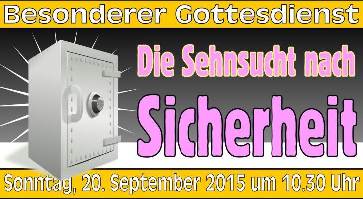 Besonderer Gottesdienst am 20. September 2015