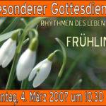 Read more about the article Rhythmen des Lebens (1): Frühling