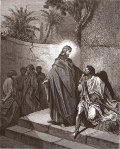 Jesus heilt einen Dämonisierten