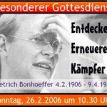 Read more about the article Dietrich Bonhoeffer: Entdecker, Erneuerer, Kämpfer