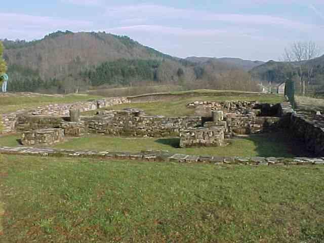 Ruinen von Kloster Annegray